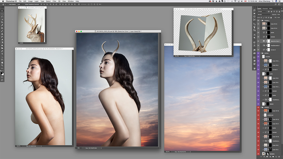 photomanipulation behind the scenes