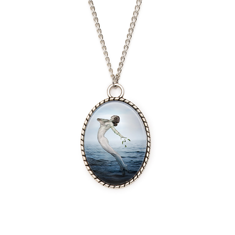 art cameo necklace